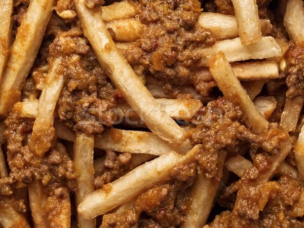 Rustico americano chili patatine alimentare Foto d'archivio © zkruger