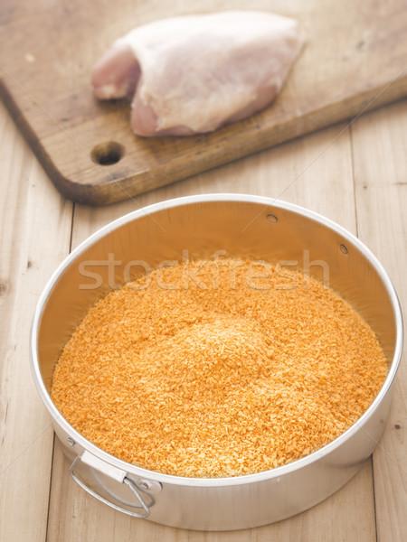golden breadcrumbs Stock photo © zkruger