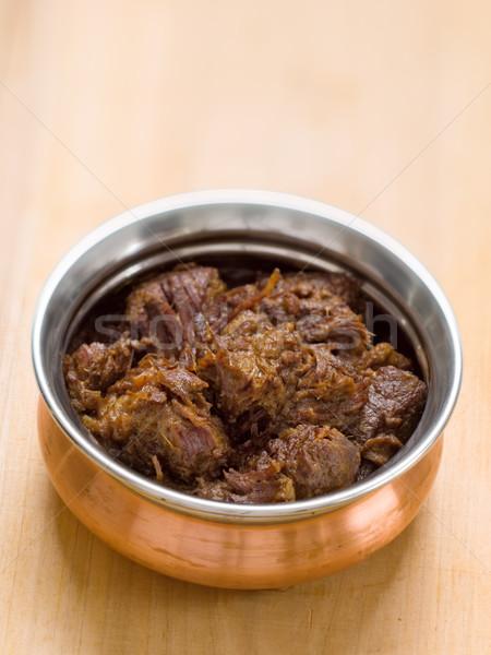 spicy beef rendang Stock photo © zkruger