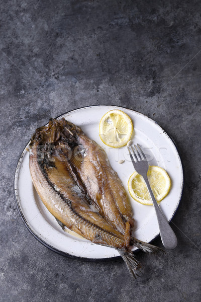 rustic smoked english kippers Stock photo © zkruger