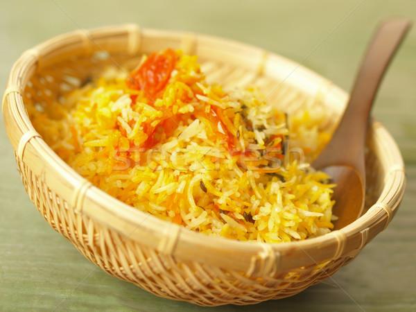 saffron rice Stock photo © zkruger