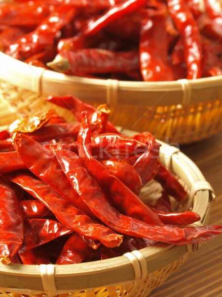 dried red chilies Stock photo © zkruger