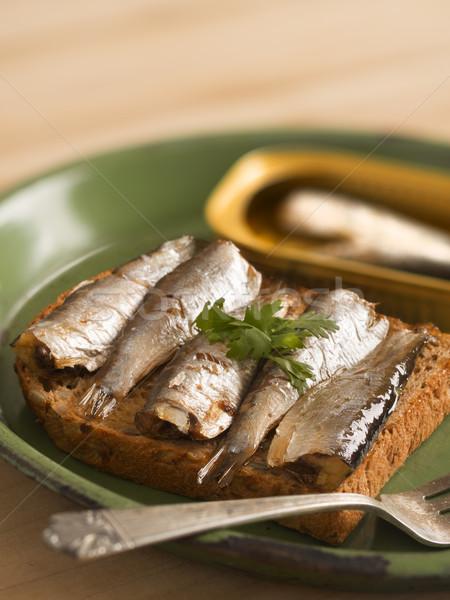 sardine sandwich Stock photo © zkruger