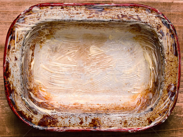 rustic shabby buttered  pie pan Stock photo © zkruger