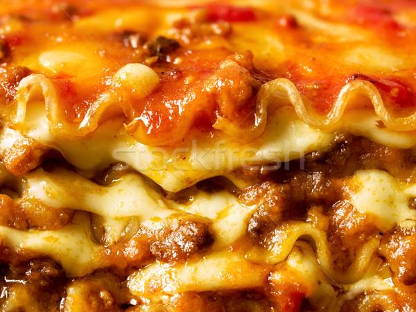 Rustikal italienisch Lasagne Pasta Essen Stock foto © zkruger