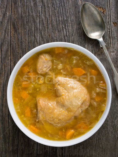 rustic chicken soup Stock photo © zkruger