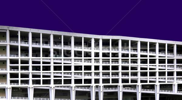 crooked multi-storey carpark building Stock photo © zkruger