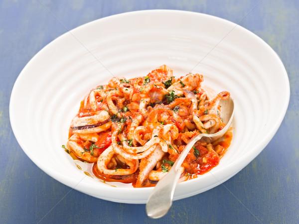Rustik İtalyan baharatlı domates sosu gıda Stok fotoğraf © zkruger
