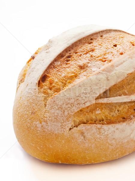 ローフ パン 背景 色 朝食 ストックフォト © zkruger