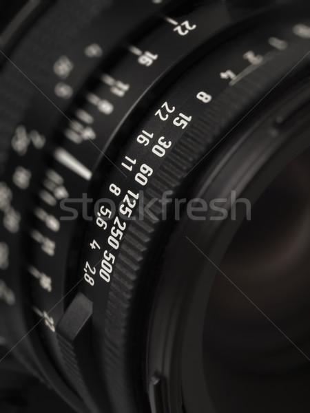 camera lens markings Stock photo © zkruger
