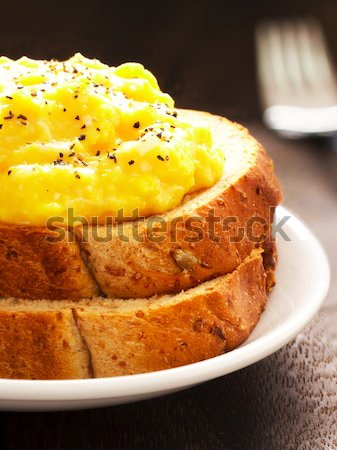 Roereieren sandwich eieren peper kom Stockfoto © zkruger