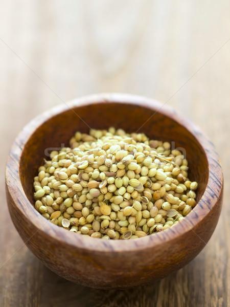 Kişniş tohumları çanak renk baharat Stok fotoğraf © zkruger