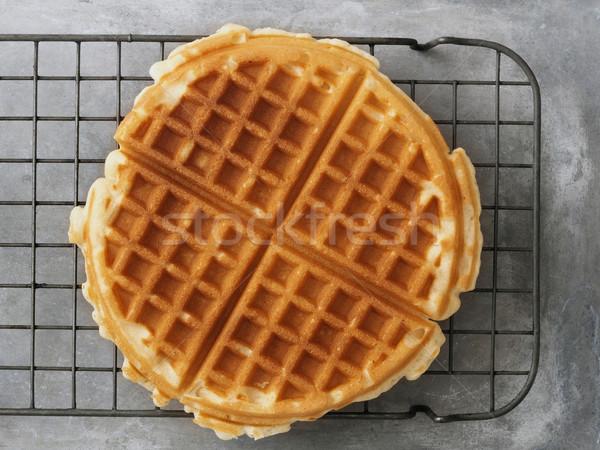 rustic plain waffle Stock photo © zkruger