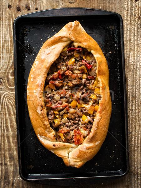 деревенский турецкий хлеб пиццы Сток-фото © zkruger