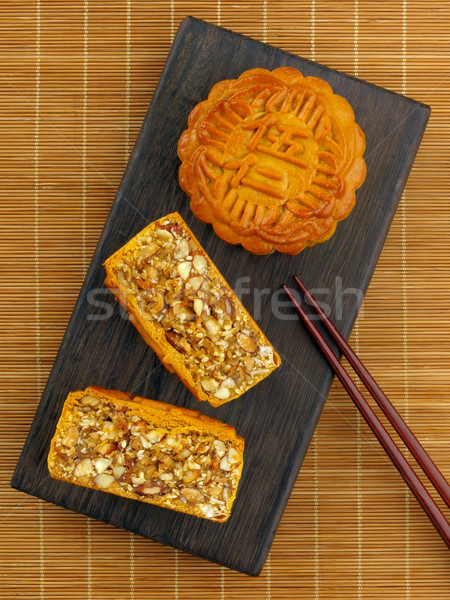 asian mixed nuts mooncake Stock photo © zkruger