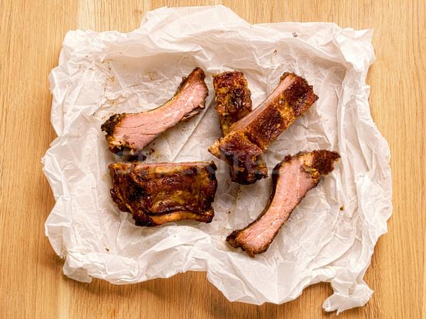 バーベキュー 豚肉 リブ 食品 赤 ストックフォト © zkruger