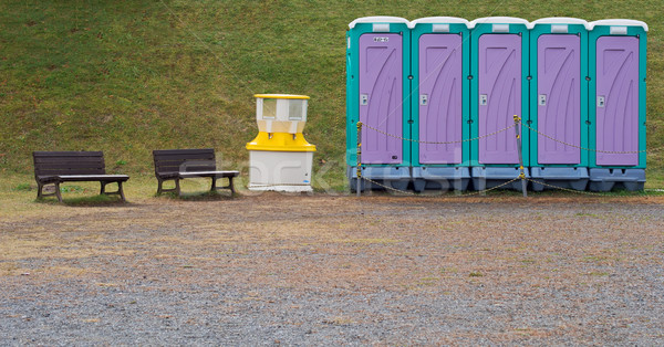 temporary toilet Stock photo © zkruger