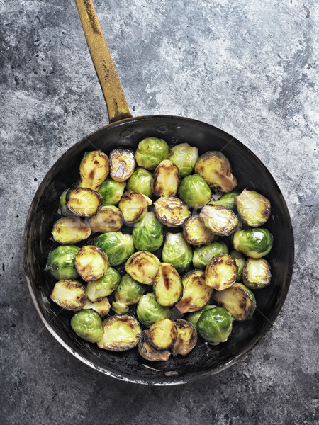 rustic crispy fried brussels sprouts Stock photo © zkruger