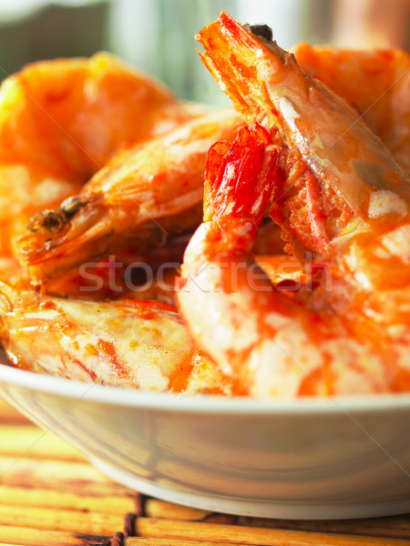 asian spicy prawns Stock photo © zkruger