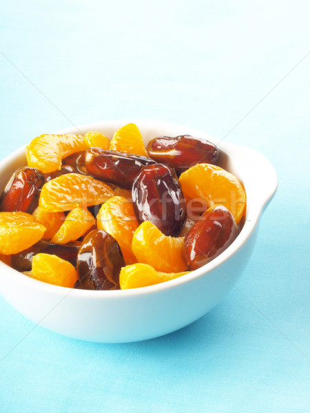 Dates salade de fruits bol Photo stock © zkruger