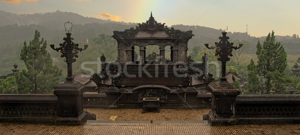 khai dinh tomb in hue vietnam Stock photo © zkruger