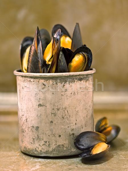 rustic black mussel Stock photo © zkruger
