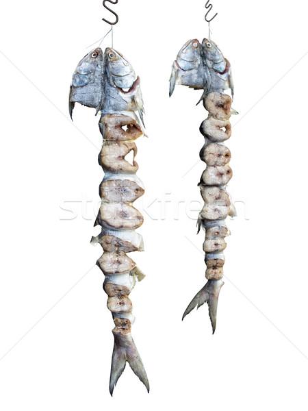 Kínai sózott hal izolált fehér közelkép Stock fotó © zkruger