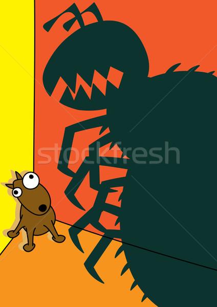 pet dog flea infestation Stock photo © zkruger