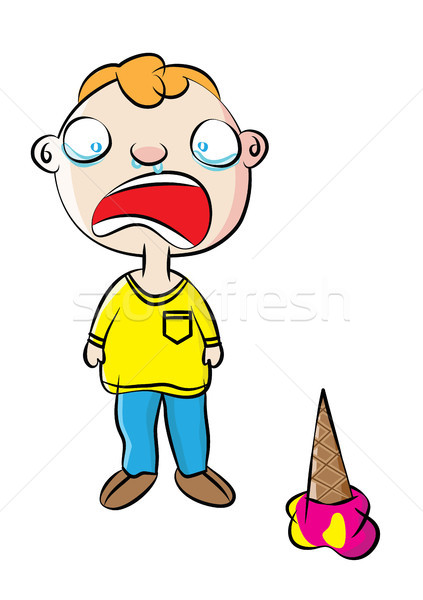 crying young boy behavior management Stock photo © zkruger
