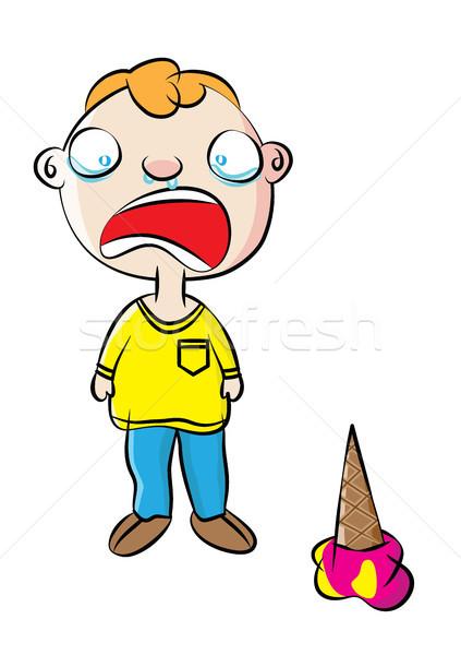 Huilen gedrag beheer kinderen kleur Stockfoto © zkruger