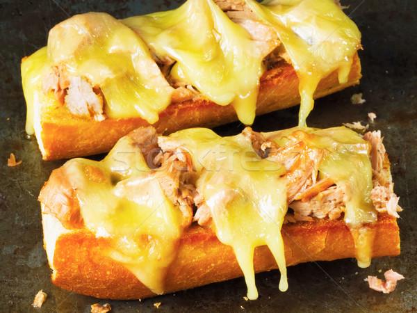 rustic american tuna melt sandwich Stock photo © zkruger