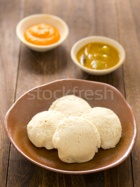 indian idli breakfast Stock photo © zkruger