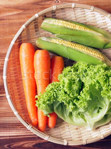 Cesta legumes cor alface ninguém Foto stock © zkruger