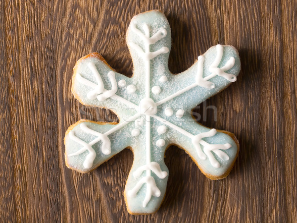 christmas snow flake cookie Stock photo © zkruger