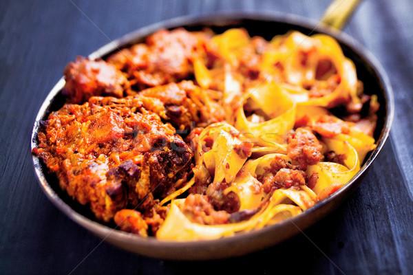 Rustico italiana pasta cuore Blur Foto d'archivio © zkruger