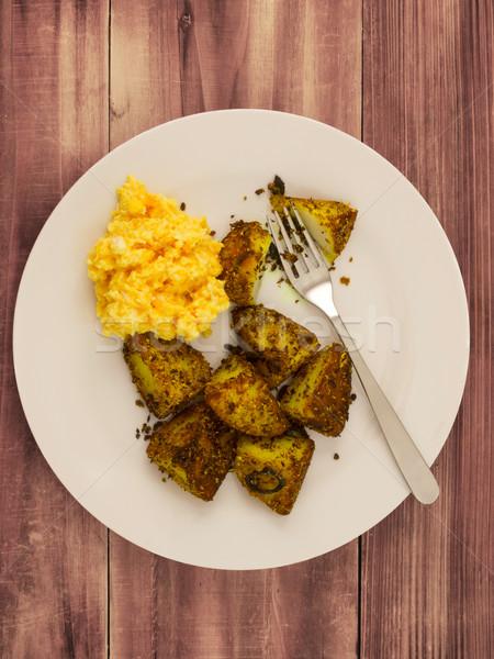 クローズアップ プレート 卵 色 ストックフォト © zkruger
