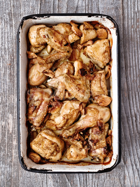 rustic golden roast chicken casserole  Stock photo © zkruger