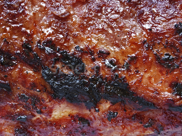 barbecued meat texture background Stock photo © zkruger