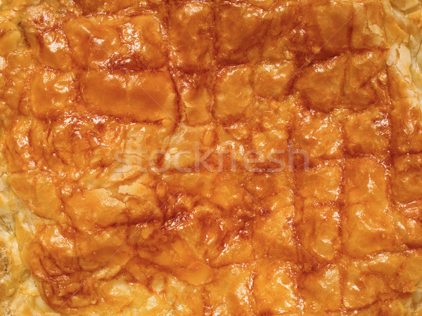 flaky golden puff pastry pie crust food background Stock photo © zkruger