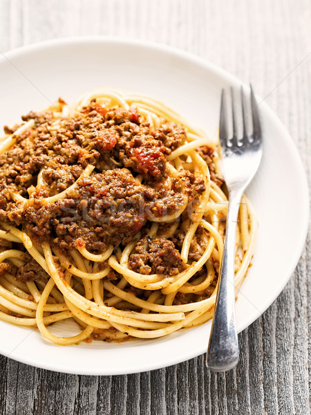 rustic italian spaghetti bolognese Stock photo © zkruger