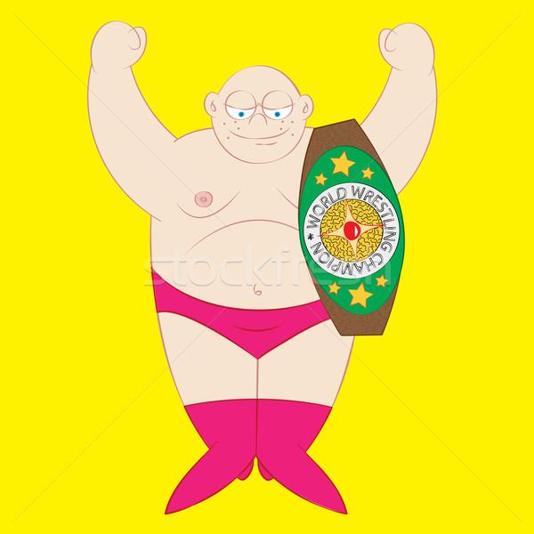 Mundo campeão wrestler campeonato cinto Foto stock © zkruger