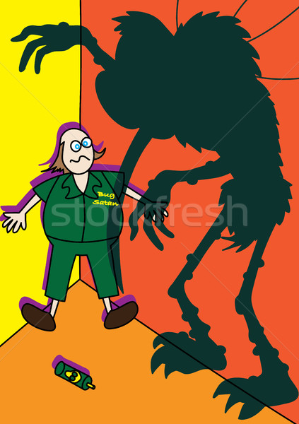 monster giant mosquito spreading zika virus  Stock photo © zkruger
