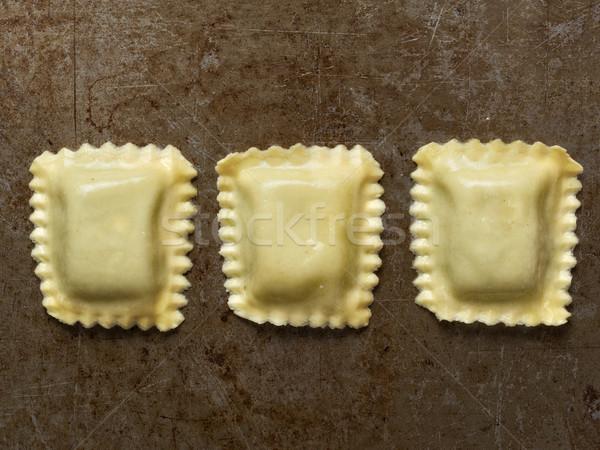 Rustiek Italiaans ravioli pasta Stockfoto © zkruger