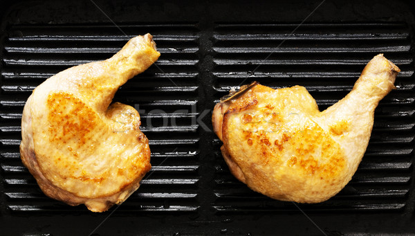 grilled chicken legs Stock photo © zkruger