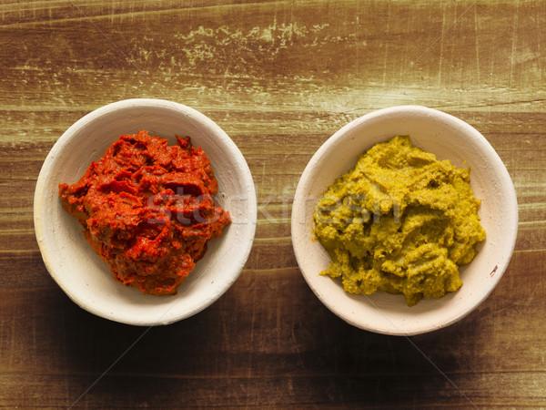 Rústico vermelho amarelo indiano caril Foto stock © zkruger
