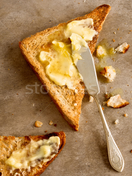 焼いた バター トースト パン ストックフォト © zkruger