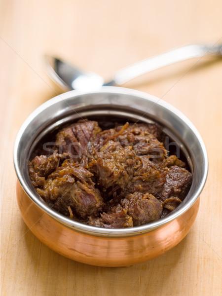 пряный говядины чаши красный мяса Сток-фото © zkruger