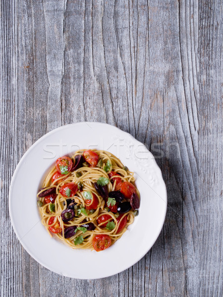 素朴な イタリア語 スパゲティ パスタ 色 ストックフォト © zkruger