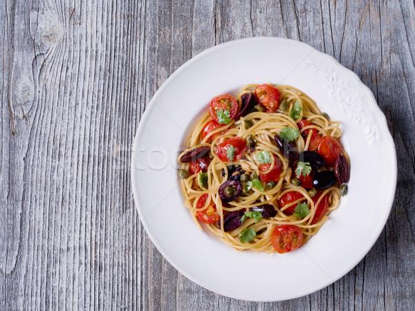 素朴な イタリア語 スパゲティ パスタ 誰も ストックフォト © zkruger