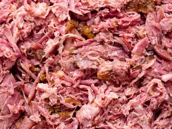 american pull pork food background Stock photo © zkruger